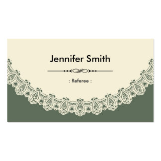 Referee - Retro Chic Lace Business Card