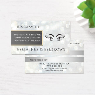 Referral card chic bokeh eyelashes & eyebrows