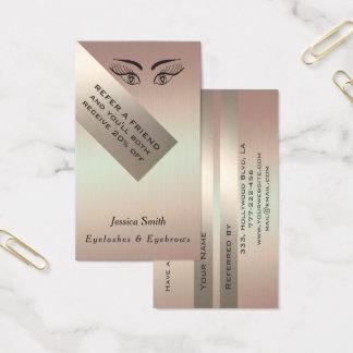 Referral card chic metal look eyelashes & eyebrows