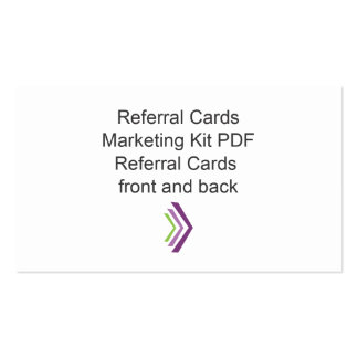 Referral Card Marketing Kit Template Pack Of Standard Business Cards