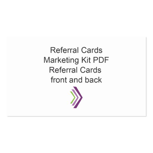 Referral Card Marketing Kit Template Business Cards