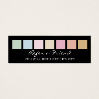 Referral Card - modern fine pastel colors