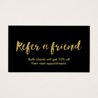 Referral Card | Modern Gold Script