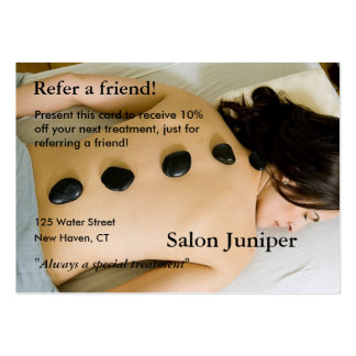 Referral Card with massage stones Pack Of Chubby Business Cards