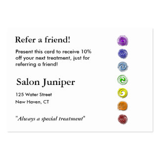 Referral Card with seven chakras Pack Of Chubby Business Cards