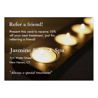 Referral Card with votive candles Large Business Cards (Pack Of 100)