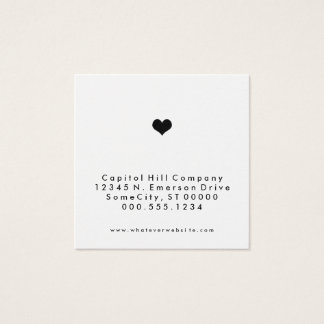 referral heart square square business card