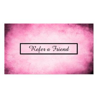 referral program pink parchment business cards