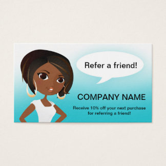Referral Tell a Friend Business Card