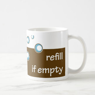 refill if empty coffee mug