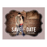 Refined Elegance Save The Date Postcard - Pink