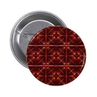 Refined Geometric Pattern Pinback Buttons