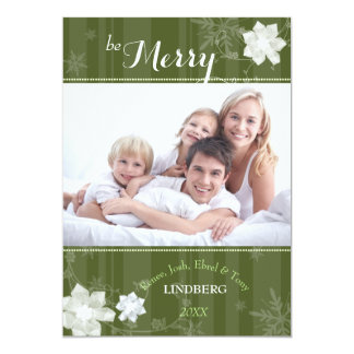Refined Merriment Green Holiday Photo Card