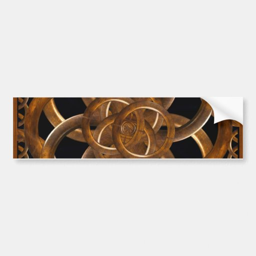 Refined Wood Decorative Background Bumper Stickers