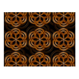 Refined Wood Decorative Background Postcard