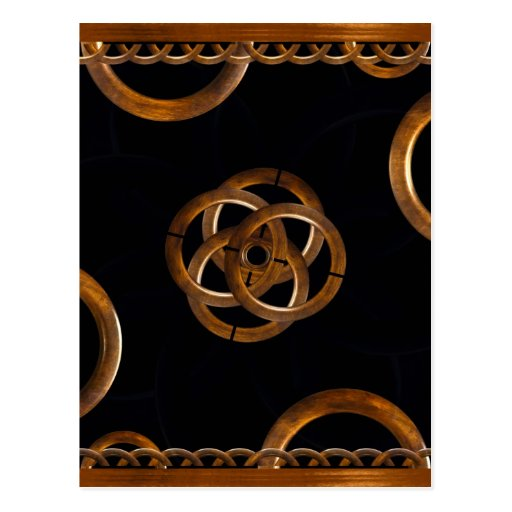 Refined Wood Decorative Background Post Cards