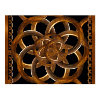 Refined Wood Decorative Background Post Card