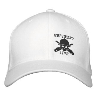 Refinery Life - Front only (Black stitching) Embroidered Hats