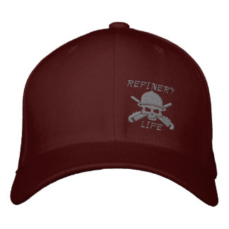 Refinery Life - Front only (grey stitching) Embroidered Hats