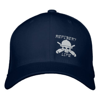 Refinery Life - Front only (white stitching) Embroidered Baseball Cap