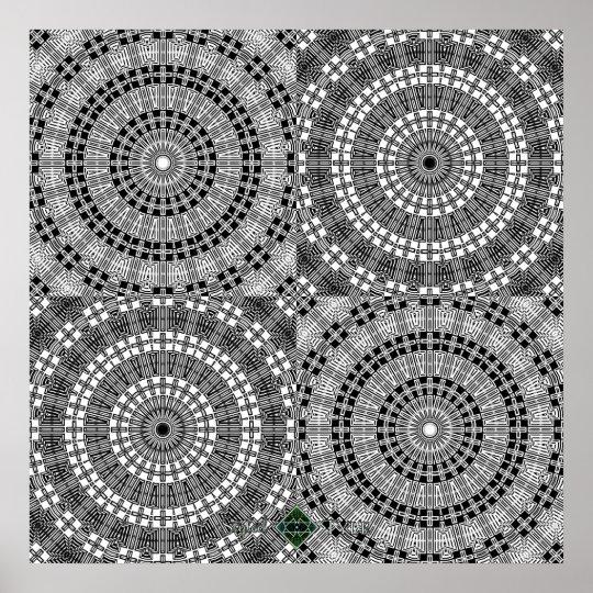 Reflect Mandala Grid Poster
