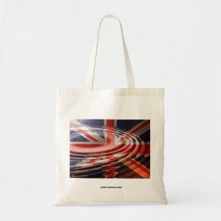 Reflected British flag Budget Tote Bag