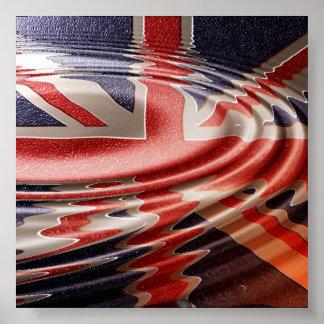 Reflected British flag Poster