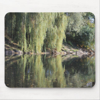 Reflected Willow Trees In River Mouse Pad
