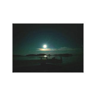 Reflecting Moon and Venus Canvas Print
