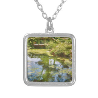 Reflecting On Life Silver Plated Necklace