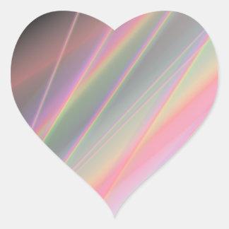 Reflecting Rainbows Heart Sticker