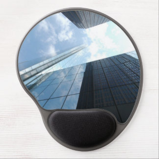 Reflecting skyscrapers gel mouse pad