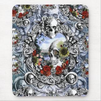 Reflection Americana skull landscape Mouse Pad