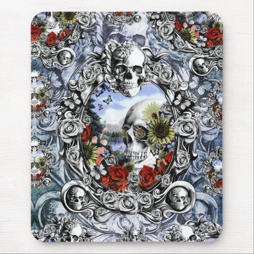 Reflection, Americana skull landscape Mouse Pad