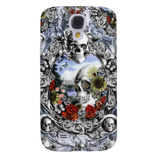 Reflection, Americana skull landscape Samsung Galaxy S4 Covers