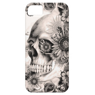 Reflection, floral landscape skull iPhone 5 cases