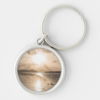 Reflection heaven Silver-Colored round key ring