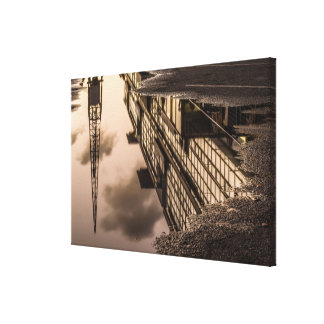 reflection in rain water canvas print