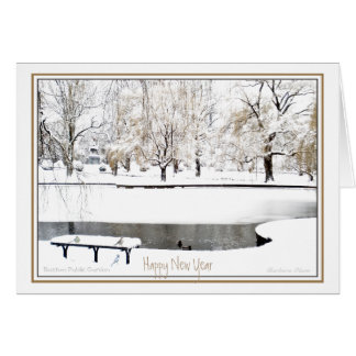 Reflection in the Coming New Year. Greeting Card