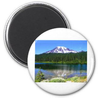 Reflection Lake, Mount Rainier, WA, USA Magnet