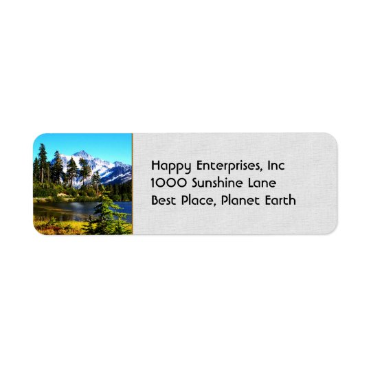 Reflection Lake Return Address Label