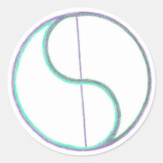 Reflection Mandala Classic Round Sticker
