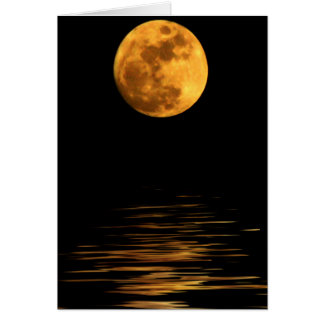 Reflection of a Full Moon Blank Card