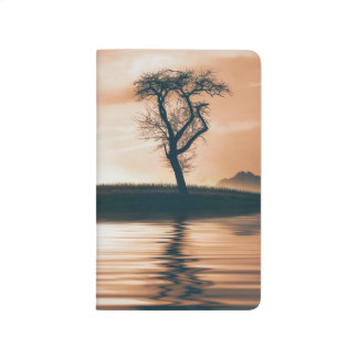 Reflection of a Tree on the Water Customizable Journal