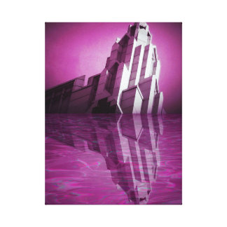 Reflection of Purple Tower Canvas Print