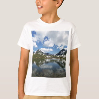 Reflection of sky and clouds in mountain lake T-Shirt