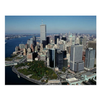 Reflection PC Twin Towers View~ WTC NYC Manhattan Postcard