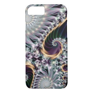 Reflection Silver Spiral Fractal iPhone 7 Case