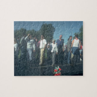 Reflection Vietnam Veterans Wall Washington DC Jigsaw Puzzle