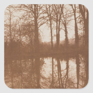 Reflections, 1843 (sepia photo) square sticker